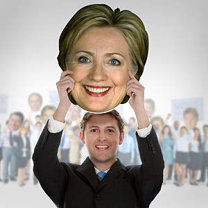 Hillary Clinton Big Head  Cut Out